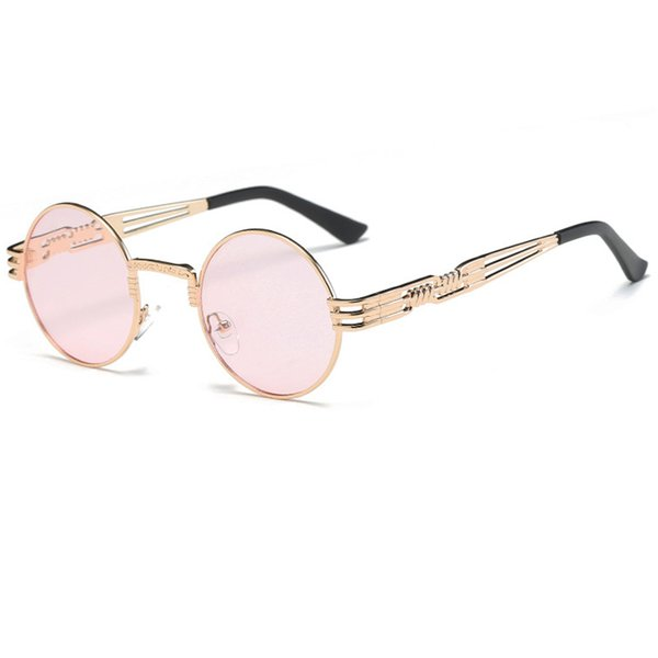 C7 Gold Frame Clear Pink Lens