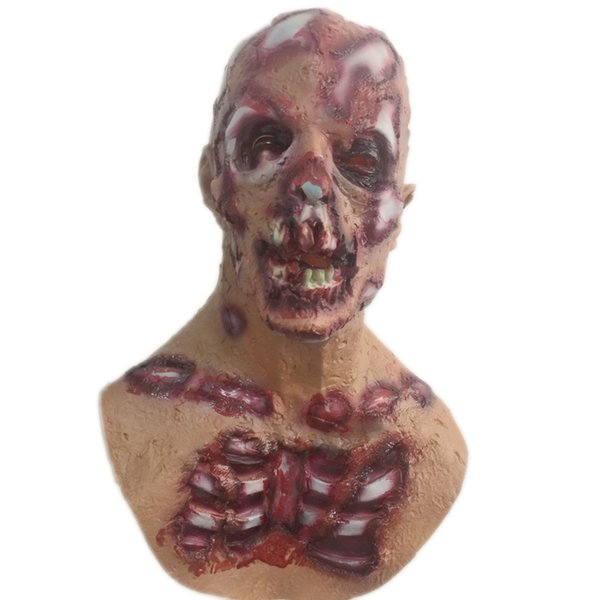 The Resident Evil Zombie Mask Halloween Spaventoso Dead Latex Bloody Face Head Maschere Costume adulto Horror Masquerade Party Puntelli Cosplay