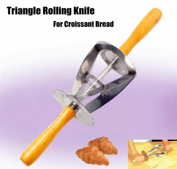 High Quality Stainless Steel Triangle Rolling Dough Cutter for Making Croissant Triangle Rolling Knife For Croissant Bread
