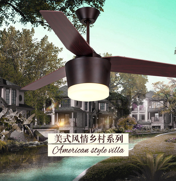 Retro chandelier ceiling fan light american country chandelier ceiling fan living room dining room bedroom remote control ceiling fans