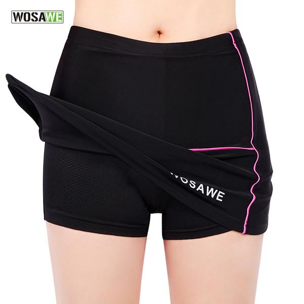 Commercio all'ingrosso - WOSAWE Womens Girls Ciclismo Bici Bicicletta Mini Gonna a pieghe Pantaloni corti Pantaloni neri