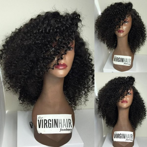 Kinky Curly 7A Brazilian Human Hair Glueless Full Lace Human Hair Wigs With Baby Hair Best Human Hair Wigs For Black Women