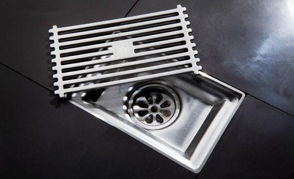 lead free top sale 15cm 304 bath Stainless Steel Floor Drain Bathroom Kitchen Shower Square bathroom Floor Waste Grate Sanitary drain