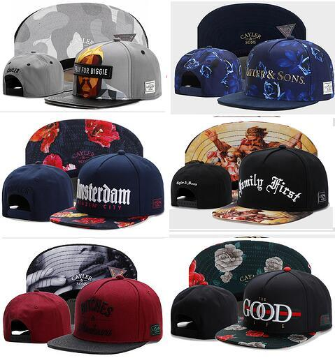 wholesale Newest Design Cayler & Sons Snapback Caps- Hip Hop Streetwear Snapbacks Custom any Hats Sport Snap backs Professional Caps Factory