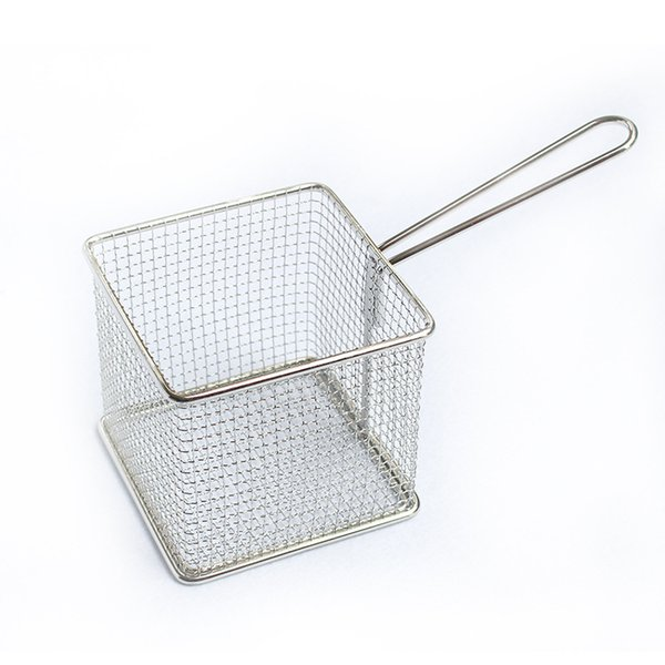 Filter Basket Stainless Steel Mini Hygiene Snack French Fries Cooked Food Deep Fried Baskets Practical Tool Hot 14dh F R