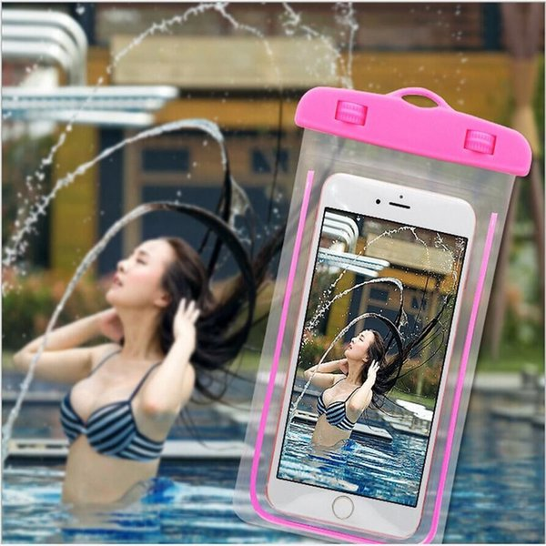 Hot sale Waterproof Pouch Bag Promotion Clear Dry Case Cover For Cell Phone iphone 4/5/6 SamsungS3/4/5 Huawei xiaomi Wholesale