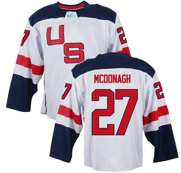 Men's Team USA #27 Ryan McDonagh White 2016 World Cup of Hockey Game Jersey