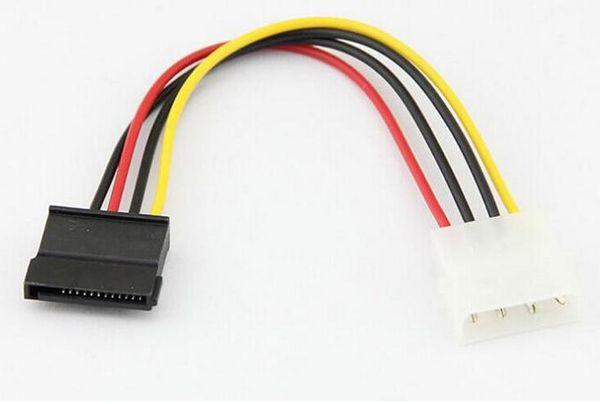 Neu kommen Serial ATA SATA 4 Pin IDE Molex auf 15 Pin HDD Netzteil Kabel Festplatte Adapter