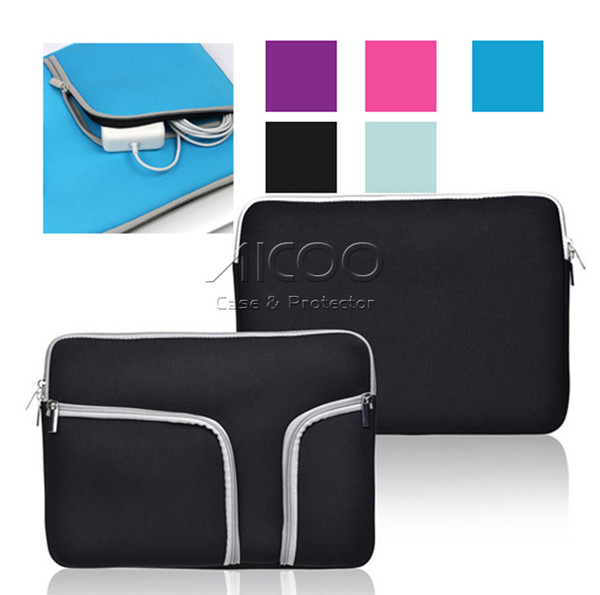 Luxury Zipper Liner Sleeve Bag Cover Case For ALL Laptop 11inch 13 inch 15 inch Macbook Air Document handbag Accessor OPP Bag Aicoo