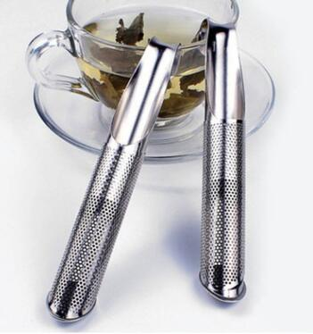 Stainless Steel Portable Loose Leaf Tea Infuser Stick Pipe Design Mini Tube Teaspoon Colander Kitchen Drinkware Tool