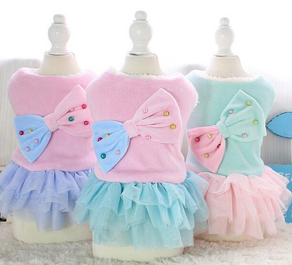 Princess Style Pet Products Pet Clothes Dog Apparel Puppy Coat Dog T-shirt Pet Costumes Wear Puppy Dress Skirt 16ZF56