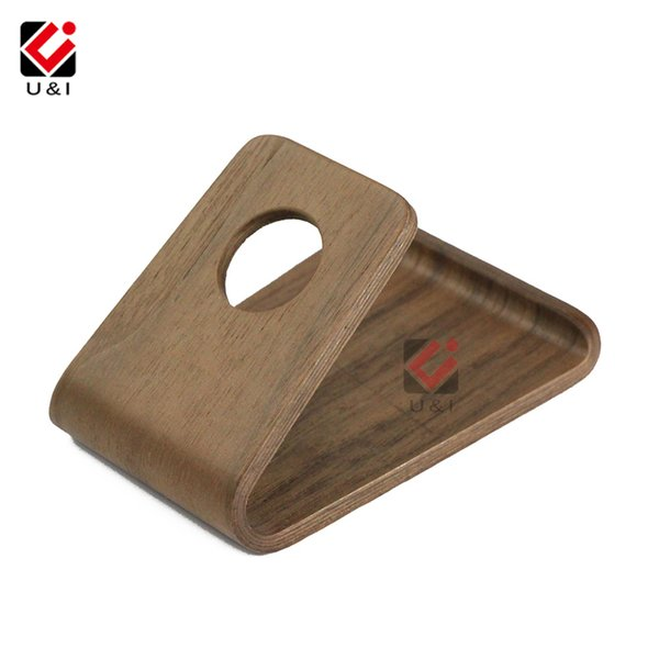 Retro UI Portable Holz Universal Handy Halter Kleine Lazy Tablet Station Echtholzständer für LG für Samsung für Huawei Halterung