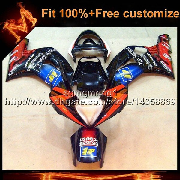 23colors+8Gifts Injection mold motor cover ORANGE BLUE ZX6R 03-04 motorcycle cowl for kawasaki ZX-6R 2003-2004 ABS Plastic Fairing