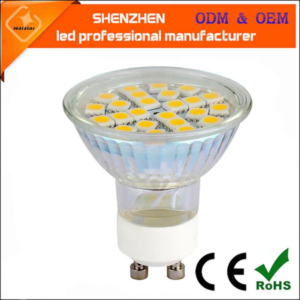 Super bright Full Watt 3W GU10 LED lamp Bulbs Heat-resistant Glass Body AC 220V 2835 5050 LEDs Spotlight SMD For Indoor lighting