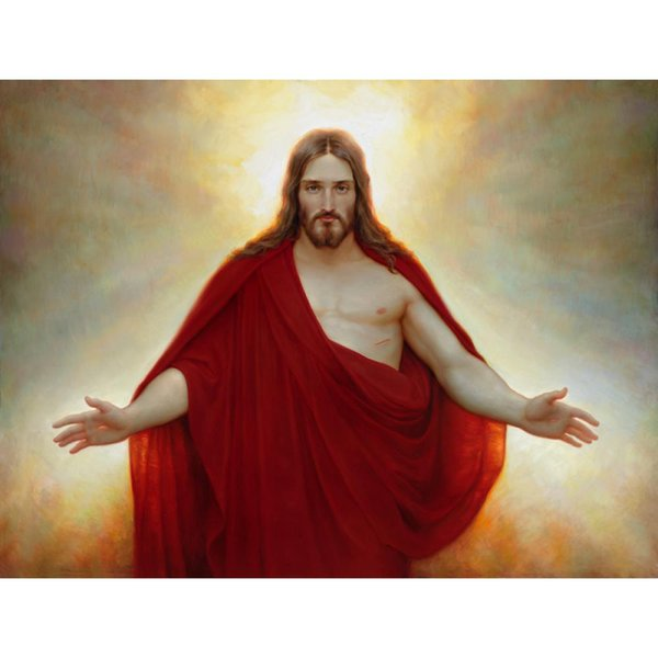 Figure oil Paintings The Living Christ Handmade Joseph Brickey Painting canvas art Living room decor
