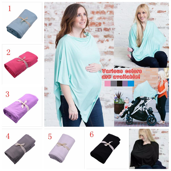 top popular Maternity Nursing Covers Poncho Baby Car Seat Canopy Cover Stroller Cover Scarf Shopping Cart Cover Breastfeed Maternity Top Shawl YYA419 2019