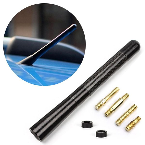 Universal Black Carbon Fiber Short Antenna Aerials For Toyota Highlander Yaris Camry Cars