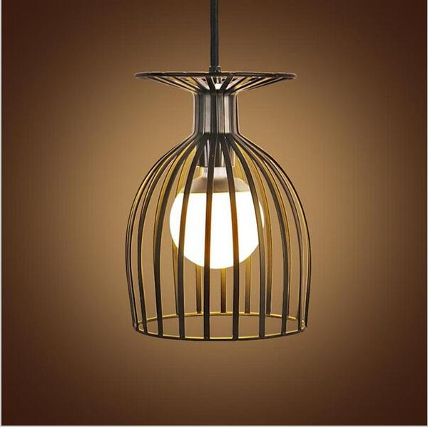 Vintage Iron LED Pendant Light E27 Birdcage Industrial Pendant Lights Hanging Lamp For Bar Cafe Restaurant Living Room Fixtures