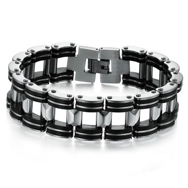 Coolest Men Fashion Stainless Steel Silicon Bracelets Multi Layer Titanium Bracelet High Quality Free Shipping