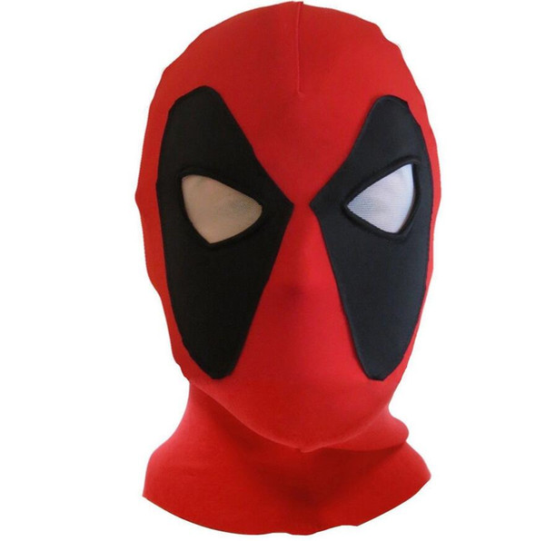 Wholesale And Retail Koveinc Halloween Deadpool mask Cosplay Costume Lycra Spandex Mask Red / Red Adult sizes