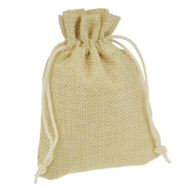 9x12cm Custom Jute Bag Burlap Bag Gift Bag Linen Gift Bag Wedding Favor Pouches Drawstring Pouches Small Jewelry bags