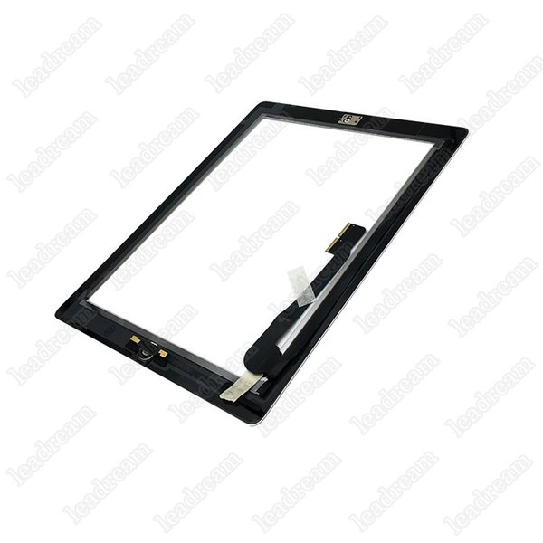 NEW Black LCD Touch Display Digitizer Glass Home Button Middle Bezel for iPad 4