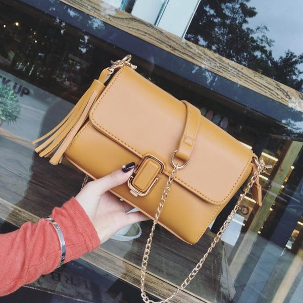 New Tassel Crossbody Bag For Women Fashion Shoulder Designer Simple Bolsa Small Flap Bag Mini Chain Messenger Purses And Handbags Feminina