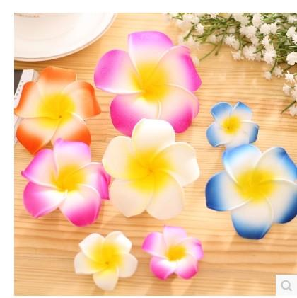 new design foam flower Plumeria rubra 'Acutifolia' with hair clips beautiful accessories hair pins for women girls