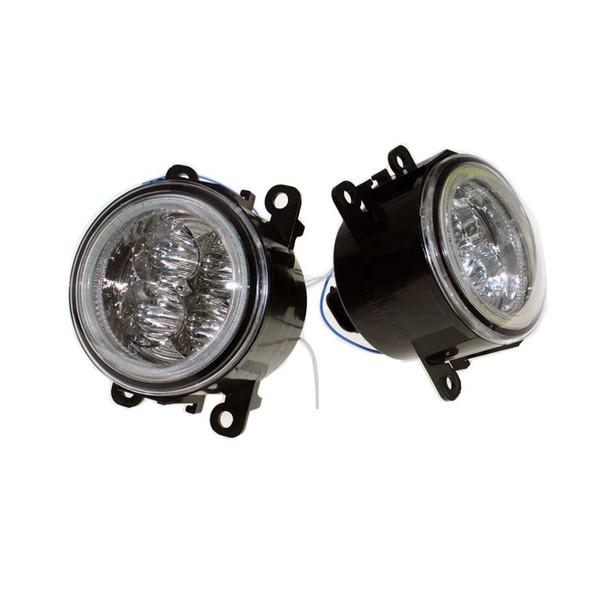 For Jaguar S-Type / X-Type 2004-2007 2008 Car Styling Bumper Angel Eyes LED Fog Lamps DRL Daytime Running Fog Lights OCB Lens