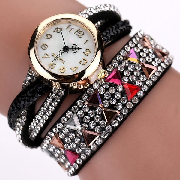 2017 New Fashion Watch Women Popular Rhinestone Luxury Bracelet Wristwatch Women Lady Female Dress Cheap Electronic Quartz Watch 50pcs/lot