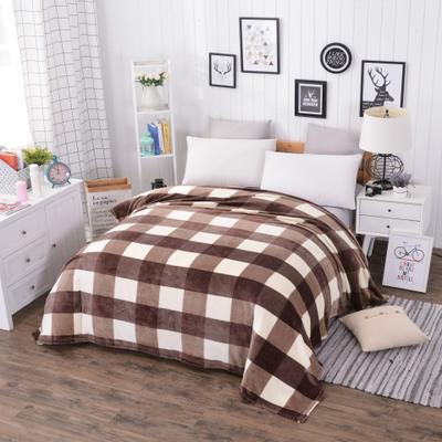 High quality Cheap Big size winter warm Coral Fleece British style soft blanket adult travel portable plaid blankets for beds