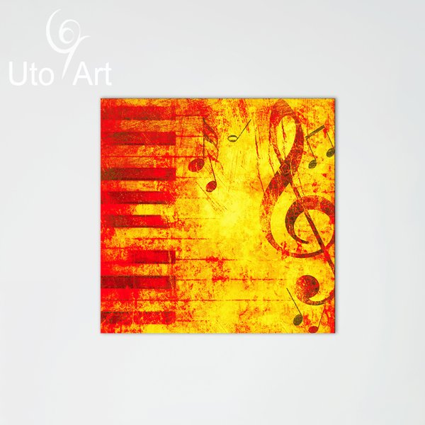 Modern Home Decorative Canvas Picture Art Print Artwork Painting of Music Melody for Living Room China Wall Canvas Art Painting