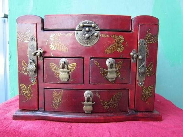 2019 Wholesale Cheap Chinese Wood Dressing Table Dresser Palace Drawers Mirror Dragon Butteryfly Old Jewelry Box From Wroldbuyer 190 96 Dhgate Com