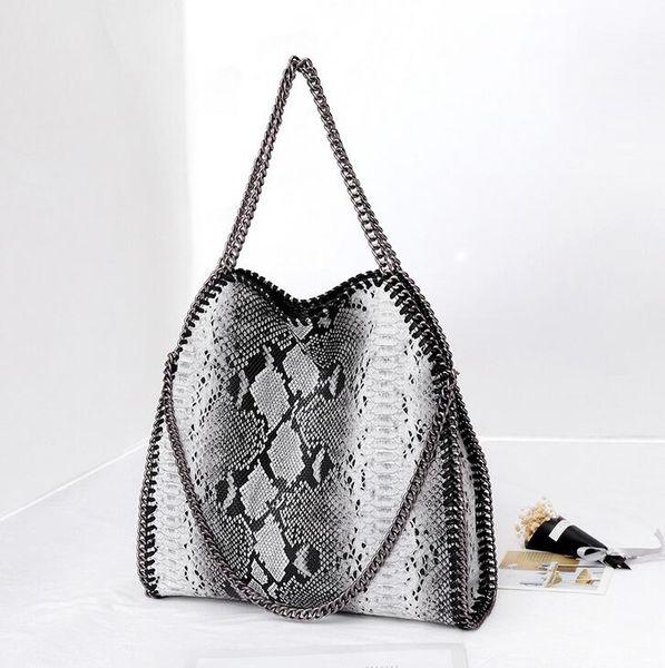 wholesale brand handbag and explosion winter snake bag folding single shoulder bag women fashion personality Snake Print Leather Hand Bag