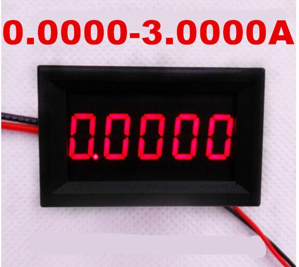 Red LCD digital Gauge Amperemeter meter DC 0.0000-3.0000A Current Panel Amp tester