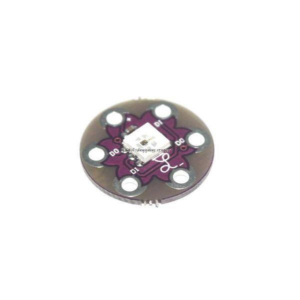 Free shipping 10pcs/lot New LilyPad Pixel Board WS2812 module for arduino Smart Electronics