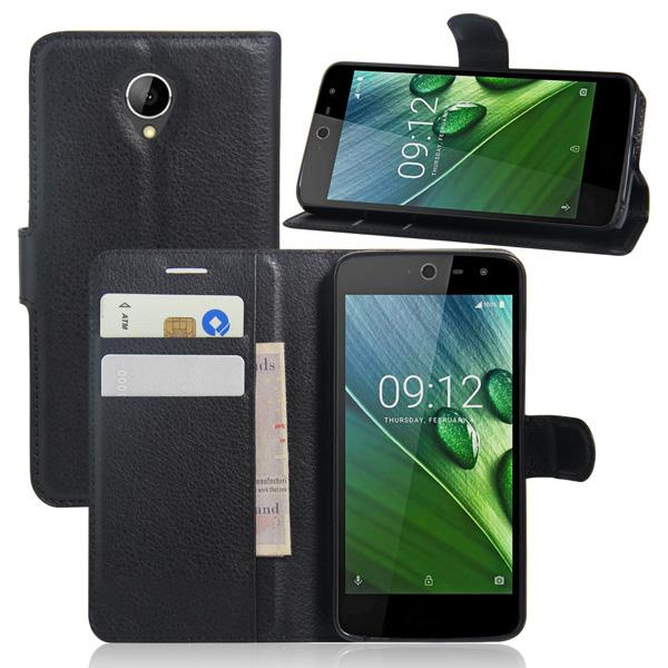 Case For Acer Liquid Zest Z525, Litchi Pattern PU Leather Wallet Stand Case Cover with Card Slot