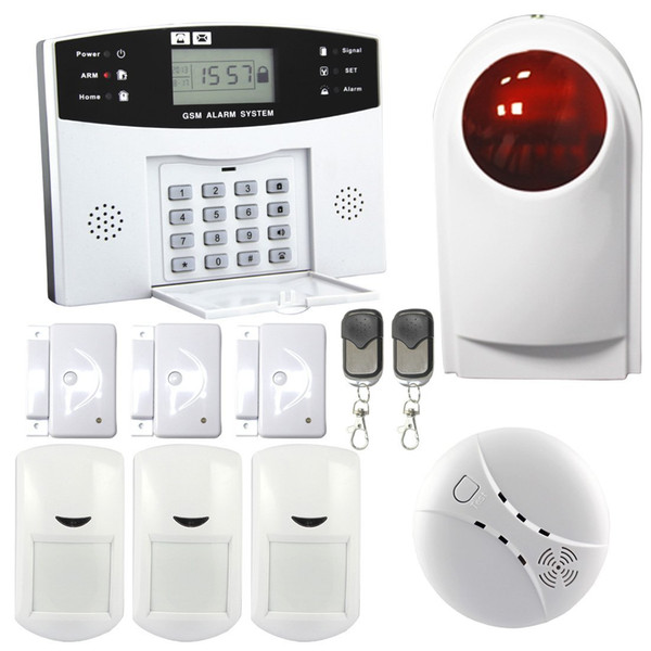Safearmed® Advanced LCD Display Wireless Burglar Security GSM Alarm System SF-9908 Security GSM Alarm System Support One-key-control Functio