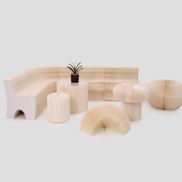 H65xl600cm novel innovation furniture pop mart bench indoor univer al waterproof accordion tyle foldable kraft ofa for 9 eat 71 1045