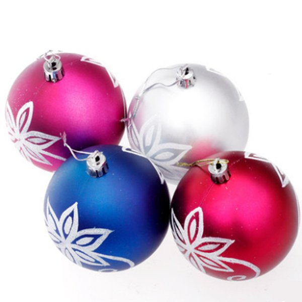8cm christmas balls painted matte plating ball christmas tree decoration ball ornaments christmas festive decorations - Outdoor Christmas Ball Decorations