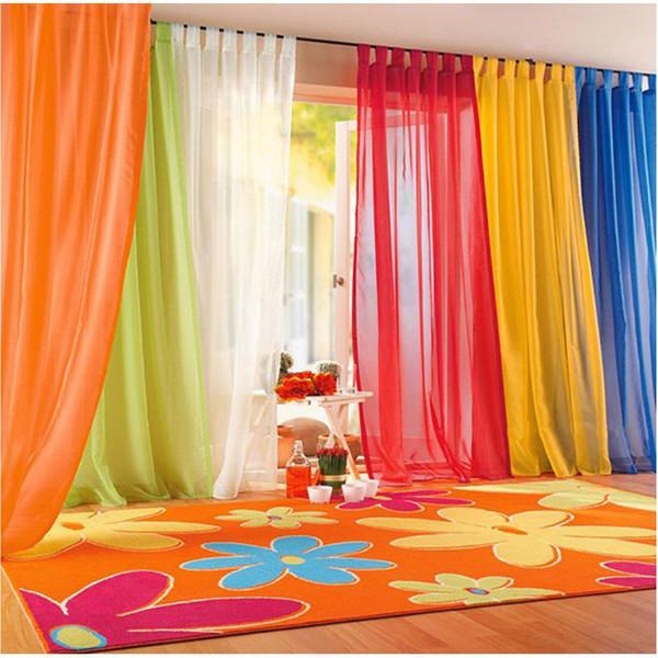 15 Farben Sheer Vorhang Für Wohnzimmer Fenster Tüll Vorhänge Für  Schlafzimmer Home Decor Vorhänge Drapiert Organza