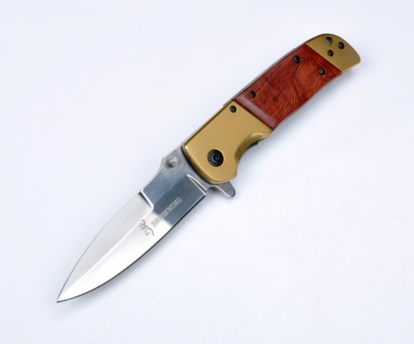 Utility Gear Browning DA69 Folding Knife Local Tyrants Gold 56HRC 5CR13MOV EDC Pocket Knife Collection Knife Xmas Gift F570L