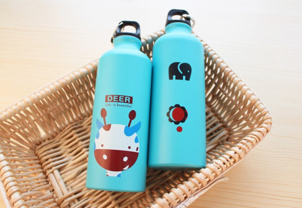 Outdoor Portable Sports Bicycle Water bottle Lovely Animal Aluminum Alloy camping hiking water bottle free shipping