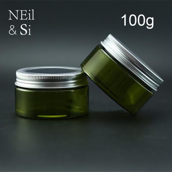 100g Green Plastic Lotion Jar Nachfüllbar Kosmetische Creme Container Leere Badesalz Verpackung Flaschen Licht Vermeiden