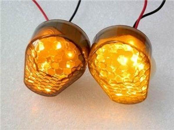 2x Smoke Lens Amber LED Indicatore di direzione Indicatore lampeggiante Indicatore di direzione per Kawasaki ZX12R 2000-2005 / ZX10R 2004-2005 Sport Racing Bike