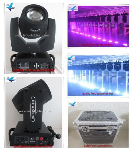 best selling Free shipping 2xlot with flight case 230 beam 7r,230w sharpy 7r beam moving head light