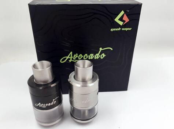 Newest GeekVape Avocado RDA Atomizer With Velocity style Deck Adjustable Kennedy style Airflow Various Drip Tip RDA free Ship