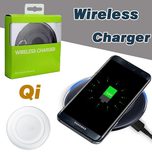 new product 1256e 28fc0 Universal Qi Wireless Charger High Speed Charging Adapter With USB Cable  For IPhone X 8 7 Plus Samsung Note 8 S8 S7 Edge With Retail Package Usb ...