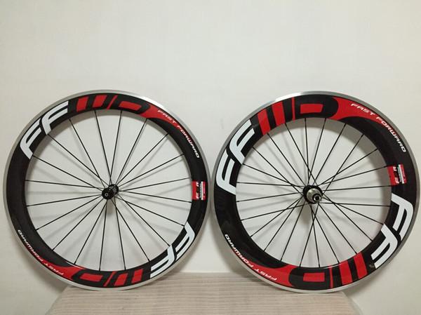 ffwd 60mm + 88mm en alliage pneu Clincher Carbon roues avec roues de vélo de route 23m 700C roues de vélo de route en carbone
