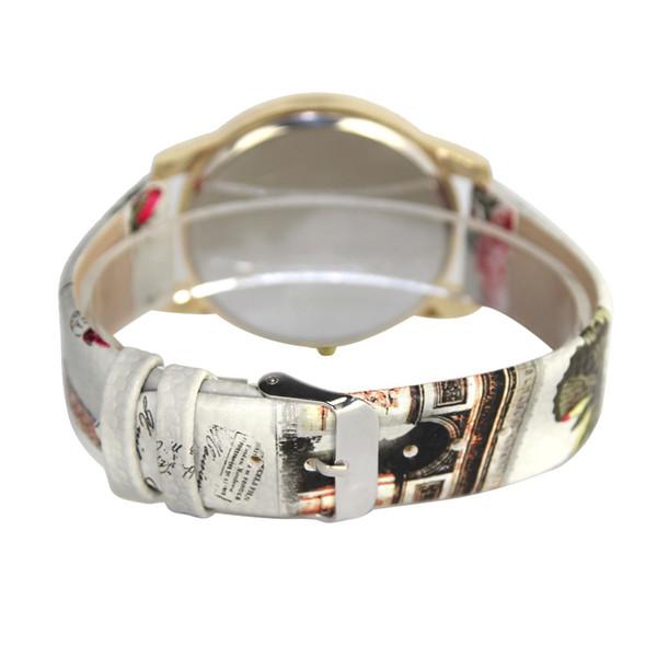 Xiniu Oil Painting Pattern Women Watch 2017 New Fashion Dial Leather Band Diamond Analog Quartz Wrist Watches Free Shipping